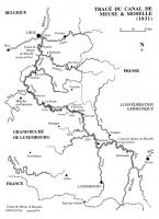 Tracé du canal de Meuse & Moselle